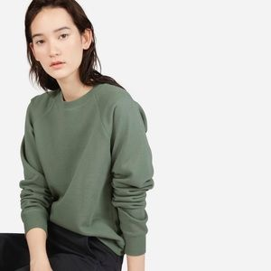 Everlane The Slim Classic French Terry Crew Green